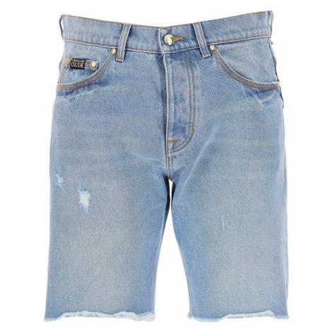 Versace Jeans Couture Spodenki dla Mężczyzn Na Wyprzedaży w Dziale Outlet, jasnoniebieski denim,