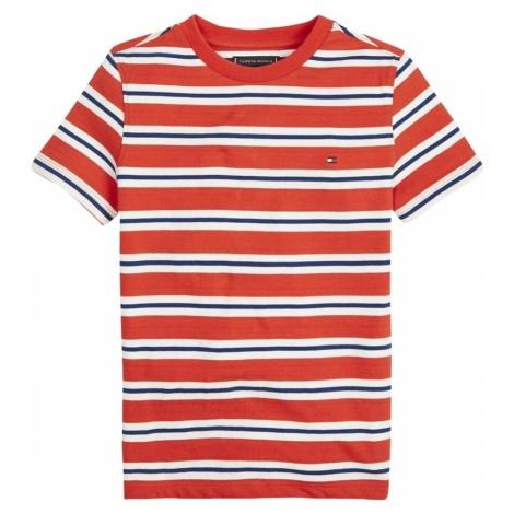 TOMMY HILFIGER Koszulka 'Stripy' niebieski / czerwony / biały