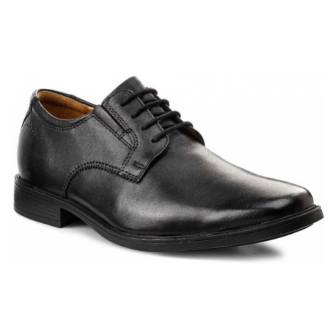 Półbuty CLARKS - Tilden Plain 261103507 Black Leather