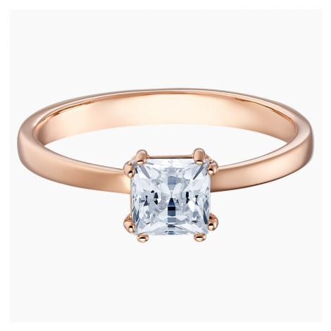 Pierścionek Attract, biały, w odcieniu różowego złota Swarovski