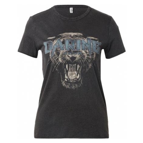 ONLY Koszulka 'MANOUK' czarny / szary / podpalany niebieski