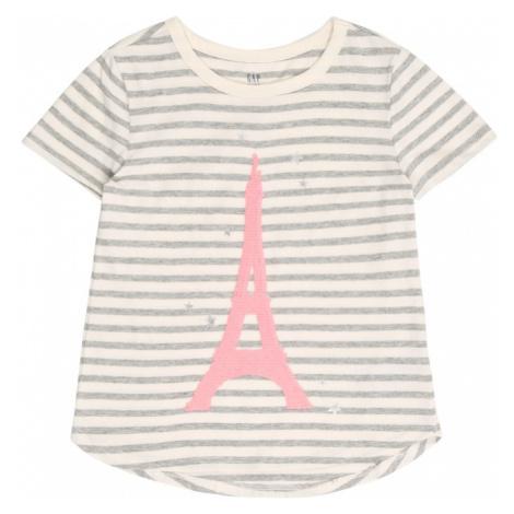 GAP Koszulka jasnoszary / różowy / biały