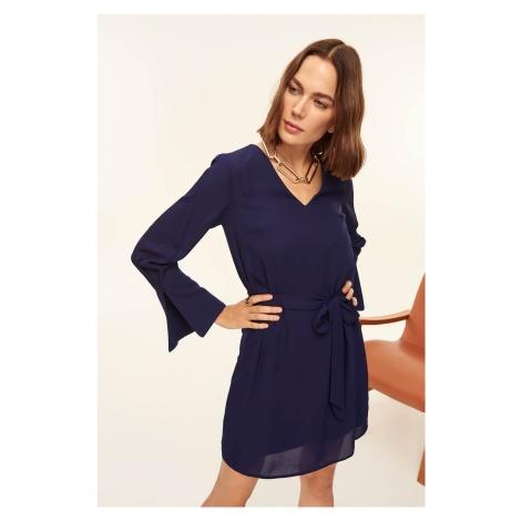 Trendyol Mor Binding Detailed Dress