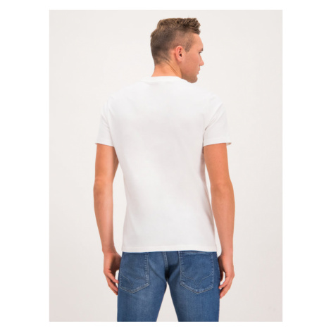Blauer T-Shirt 19WBLUH02234 005568 Biały Regular Fit