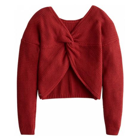 HOLLISTER Sweter rdzawoczerwony