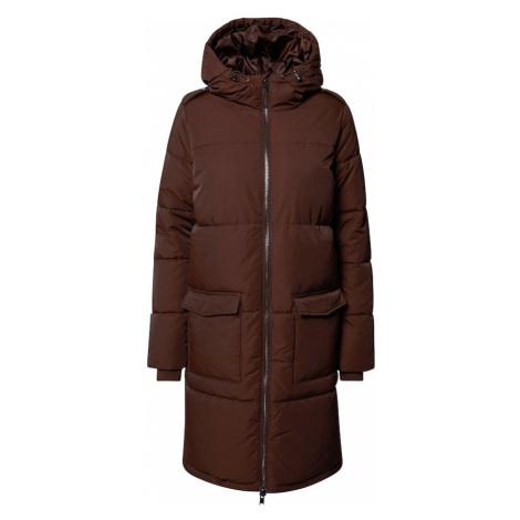 OBJECT Płaszcz zimowy 'Zhanna' ciemnobrązowy