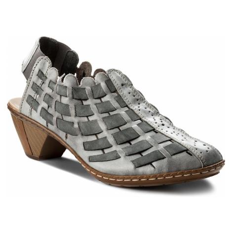 Sandały RIEKER - 46778-40 Grau