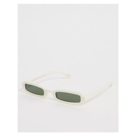 ASOS DESIGN narrow square fashion glasses