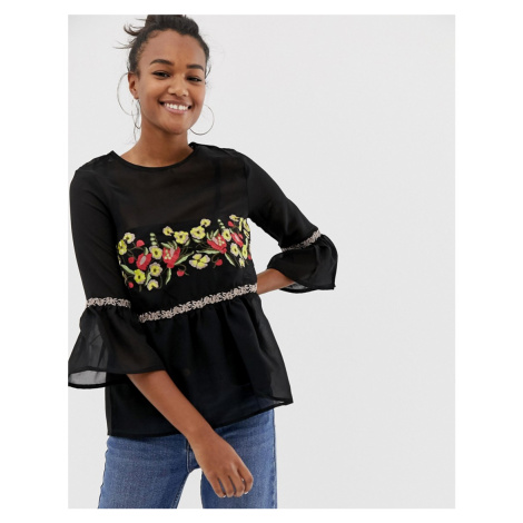 Brave Soul embroidered detail blouse