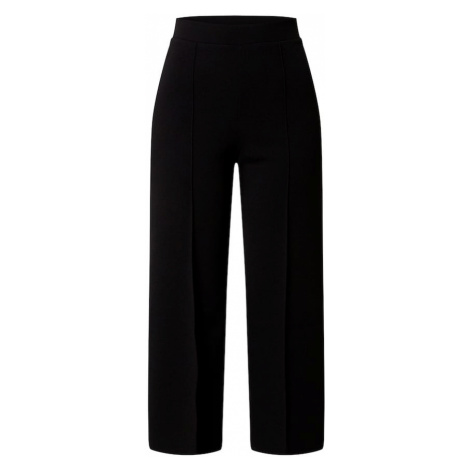 Miss Selfridge Spodnie w kant 'Black Scuba Wide Leg Trouser' czarny