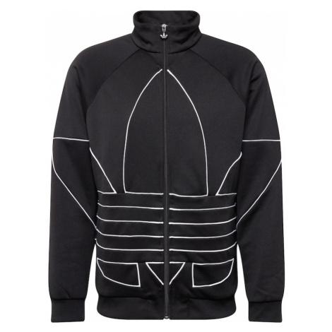 ADIDAS ORIGINALS Bluza rozpinana 'Trefoil' biały / czarny