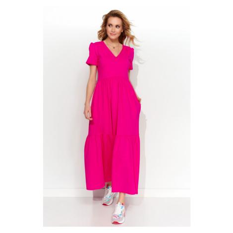 Makadamia Woman's Dress M549 Fuchsia
