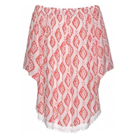 S.Oliver Sukienka plażowa biały / pastelowa czerwień