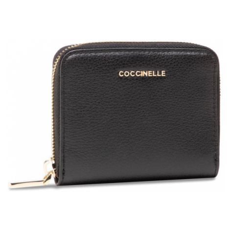 Coccinelle Mały Portfel Damski HW5 Metallic Soft E2 HW5 11 A2 01 Czarny