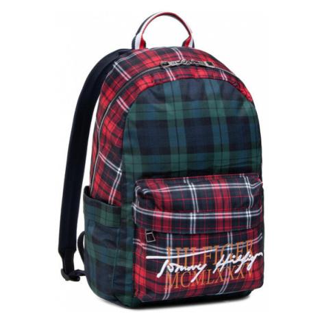 TOMMY HILFIGER Plecak Th Signature Backpack AM0AM06767 Czerwony