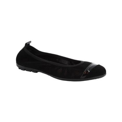 Baleriny Leonardo Shoes 5621 T/SOSIA CROSTA NERO