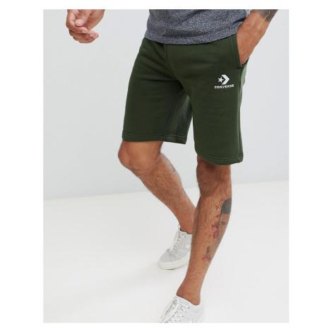 Converse Logo Jersey Shorts In Green 10009143-A01
