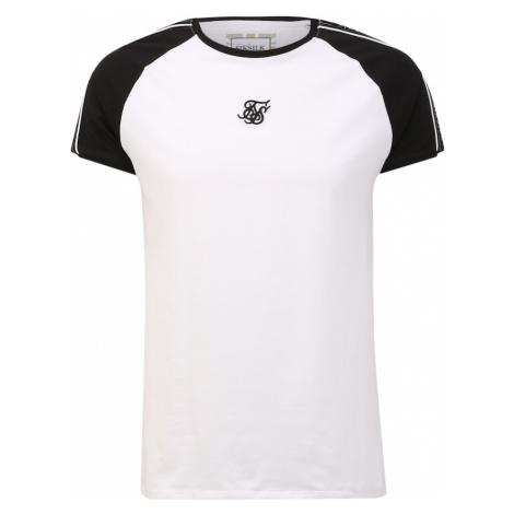 SikSilk Koszulka biały / czarny