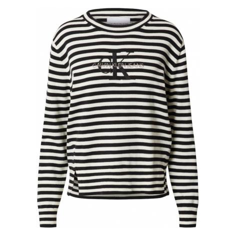Calvin Klein Jeans Sweter biały / czarny
