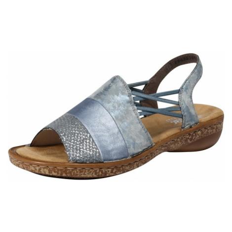 RIEKER Sandały z rzemykami niebieski