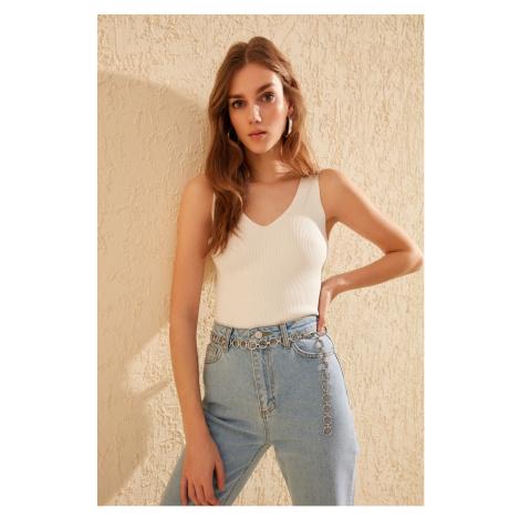 Trendyol Ecru Knitwear Blouse