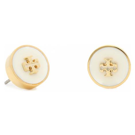 Kolczyki TORY BURCH - Kira Enamel Circle Stud Earring 64885 Tory Gold/New Ivory 110