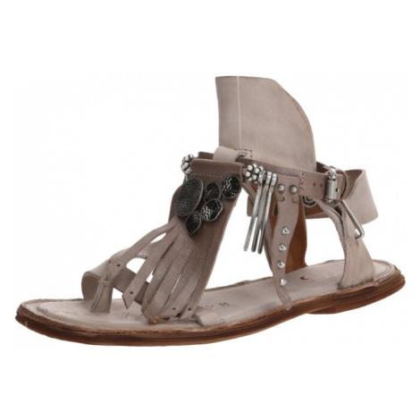 A.S.98 Sandały z rzemykami 'MALIBU' szary