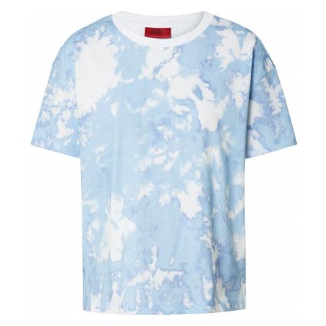 HUGO Koszulka 'Deresea_1' biały / jasnoniebieski Hugo Boss