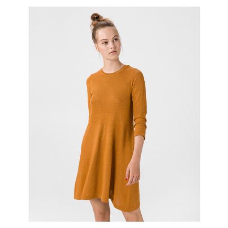 Vero Moda Felicity Sukienka Brązowy
