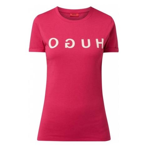 T-shirt z odwróconym nadrukiem z logo model 'Denna' Hugo Boss