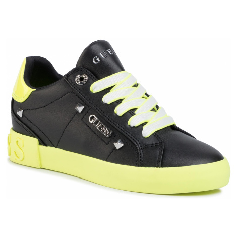 Sneakersy GUESS - Puxly FL5PUX LEA12 BLACK/YELLOW
