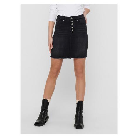 Only czarny dżinsowa spódnica Blush