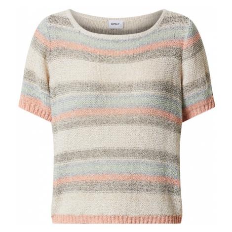 ONLY Sweter mieszane kolory / ciemnoszary / stary róż / pudrowy / pastelowy zielony