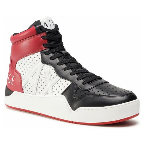 Sneakersy ARMANI EXCHANGE - XUZ003 XCC66 K495 Black/Op.White/Red