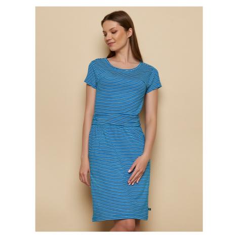 Tranquillo niebieski w paski sukienka
