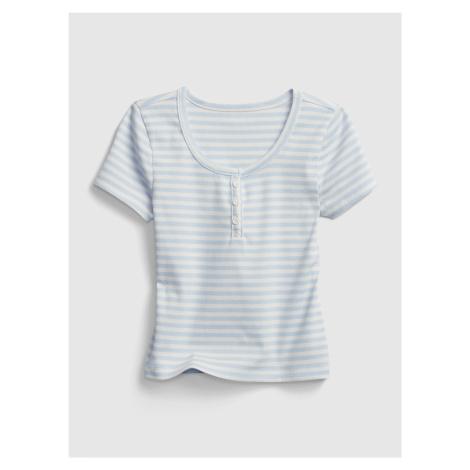 GAP niebieska koszulka dziewczęca tw ss henley