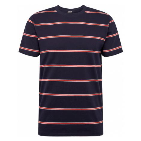 Urban Classics Koszulka 'Yarn Dyed Skate Stripe Tee' ciemny niebieski / czerwony
