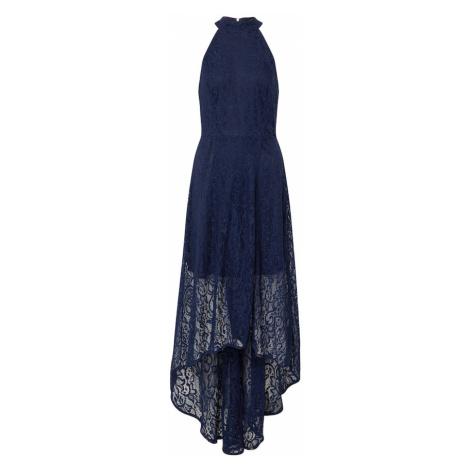 Mela London Suknia wieczorowa 'HIGH NECK HIGH LOW LACE MAXI DRESS' granatowy