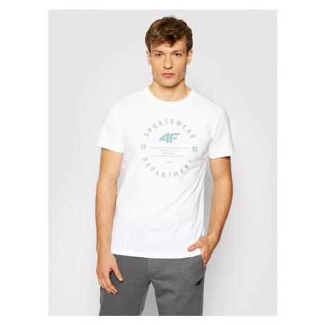 4F T-Shirt H4L21-TSM030 Biały Regular Fit