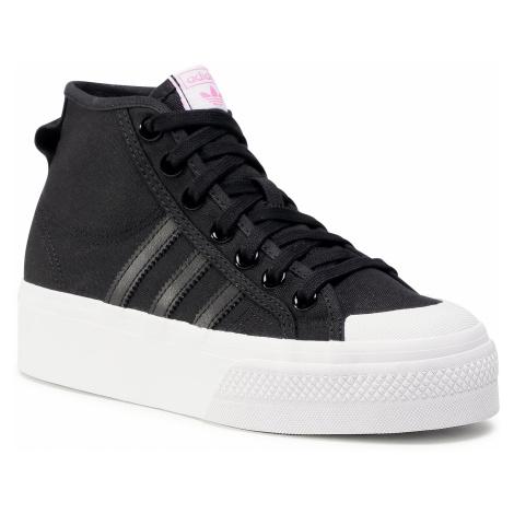 Buty adidas - Nizza Platfrom Mid W FY7579 Cblack/Ftwwht/Scrpnk