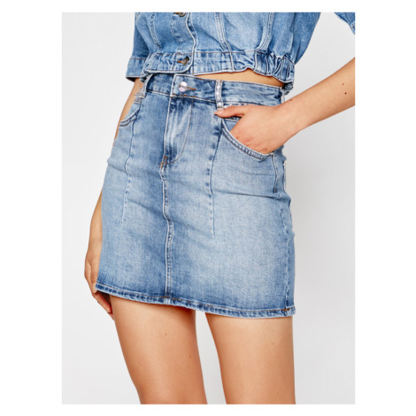 Liu Jo Spódnica jeansowa UA1133 D4618 Granatowy Slim Fit