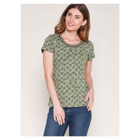 Zielona wzorzysta koszulka Brakeburn