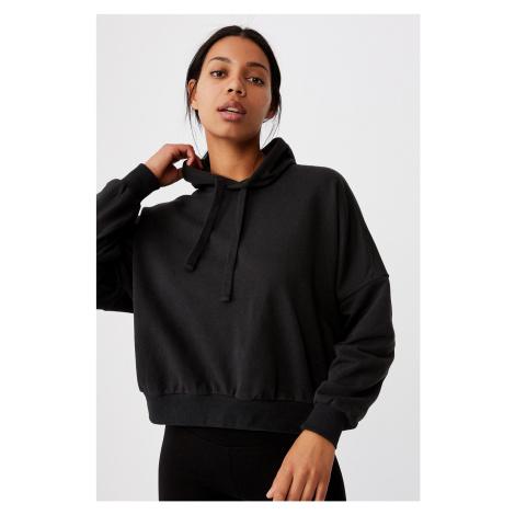 Damska czarna bluza sportowa z kapturem Favourite Oversized