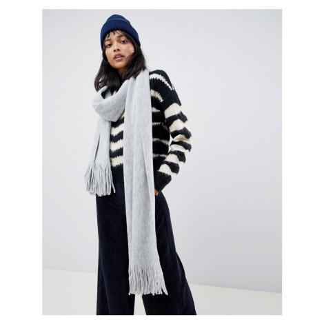 ASOS DESIGN long tassel scarf in supersoft knit