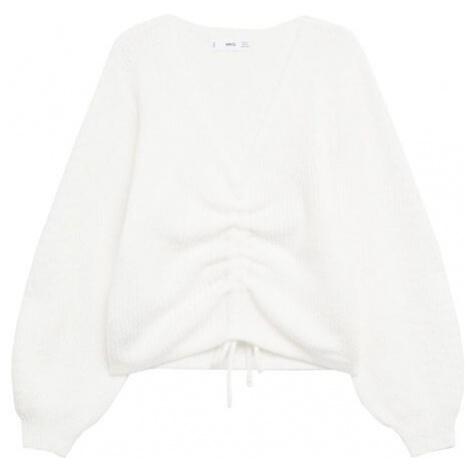 MANGO Sweter 'Frunchi' biały