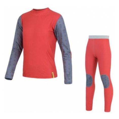 Sensor Zestaw dziecięcy Flow Set shirt dl.ruk. + Pants Red / Reindeer