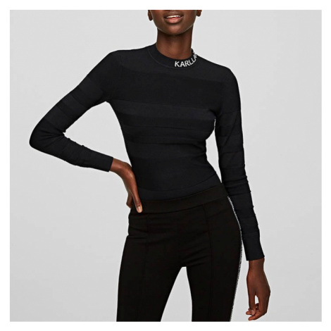 Sweter damski Karl Lagerfeld Light Weight Logo Sweater 205W2007 999