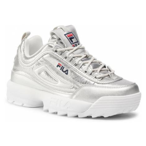 Fila Sneakersy Disruptor F Low Wmn 1011019.3VW Srebrny