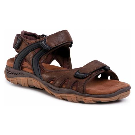 Sandały LANETTI - MBS-ROS-06 Brown