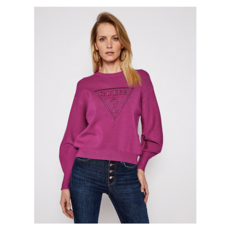 Guess Sweter Lily W1RR0H Z26I0 Fioletowy Relaxed Fit
